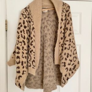Sweaters - Leopard snug cardigan.  One size fits most